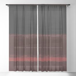 1958 Four Darks on Red by Mark Rothko Sheer Curtain