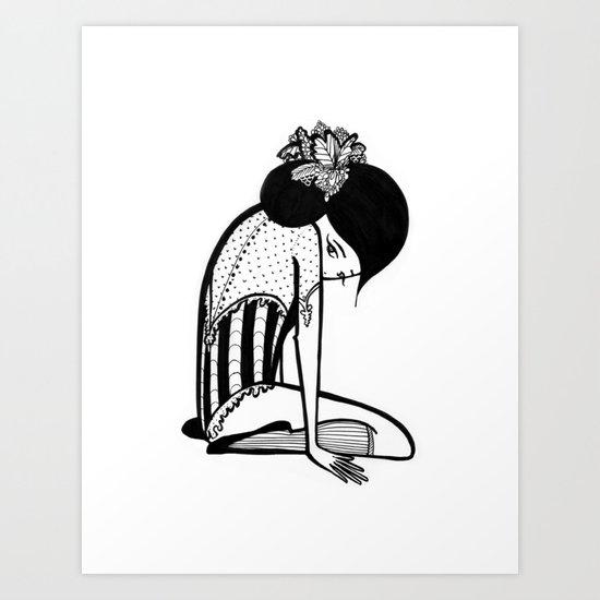 Shy Ballerina  Art Print