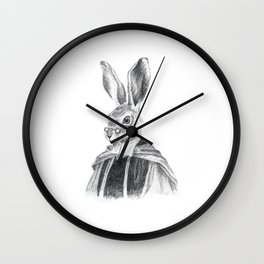 British Animal Portrait < Hare> Wall Clock