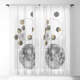 Phases of the Moon Sheer Curtain