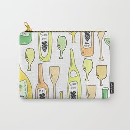 Light White. Wine proverb & pattern Carry-All Pouch
