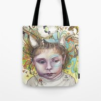 creativity Tote Bags featuring Creativity by busymockingbird