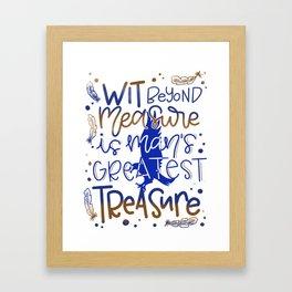 Wit beyond measure Framed Art Print