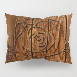Rose on Wood Pillow Sham