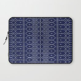 N111 - Jean Fabric, Farmhouse & Rustic Traditional Moroccan Style Artwork. Laptop Sleeve