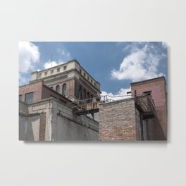 Factory Roof Layers Metal Print