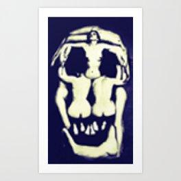 Pixel Dalì's skull Art Print
