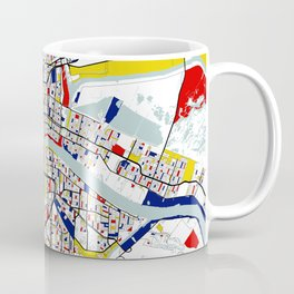 New Orleans, Louisiana City Map - Mondrian Coffee Mug