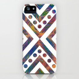 Geometric Crossover iPhone Case