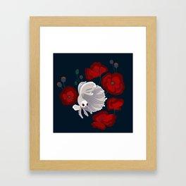 Bettas and Poppies Framed Art Print