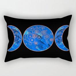 Triple Blue Moon Rectangular Pillow