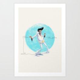 Elvis the Pelvis Art Print