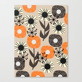 Some happy flowers Canvas Print