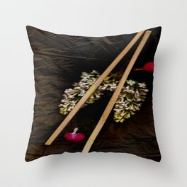 Chop Sticks Pattern Throw Pillow
