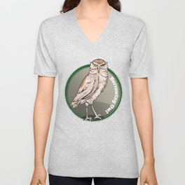 Burrowing Owl Unisex V-Neck
