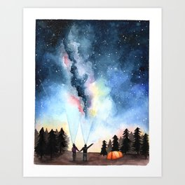 Galaxy Artwork Art Print