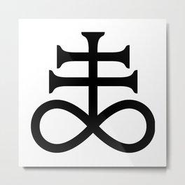 Sulfur - Alchemy Symbol Metal Print