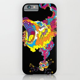 Psychedelic Bear Roar iPhone Case