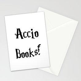 Accio books!  Stationery Cards