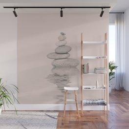 Balanced Harmony Zen Pebble soft pink Wall Mural