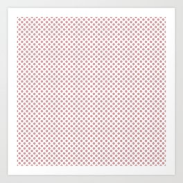 Bridal Rose Polka Dots Art Print