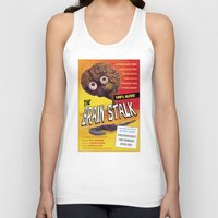 """movie posters Tank Tops featuring """"The Brain Stalk"""" Movie Poster by 7 Hells: Retro Horror art of Bill Rude"""