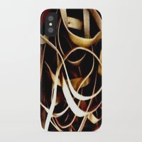 bands iPhone & iPod Cases featuring Rubber Bands by Carsick T-Rex