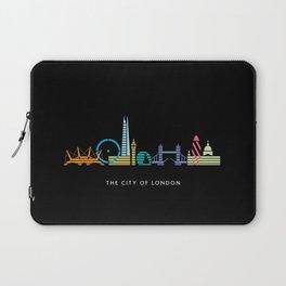 London Skyline Black Laptop Sleeve