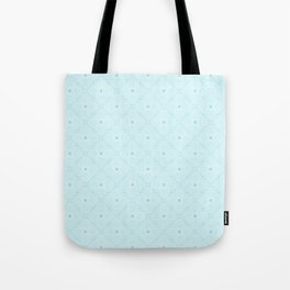 Light blue elegant patter, a bit cool and a great accent to white Tote Bag
