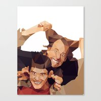 dumb and dumber Canvas Prints featuring Dumb and Dumber - Low Poly by Camilo