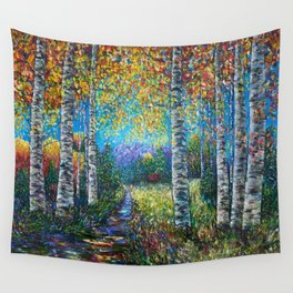Nocturne Blue - Palette Knife Wall Tapestry