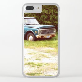 Lonely Rusty Truck Bandon Oregon Clear iPhone Case
