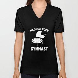 Natural Born Gymnast Unisex V-Neck