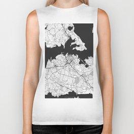 Auckland Map Gray Biker Tank