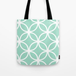 Mint Geometric Circles Tote Bag