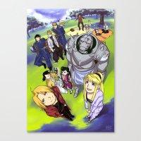 fullmetal alchemist Canvas Prints featuring Fullmetal Alchemist by thehollyfox