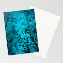 Teal Geometric Pattern Stationery Cards