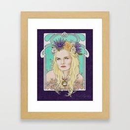 Art Nouveau Emma Swan Framed Art Print