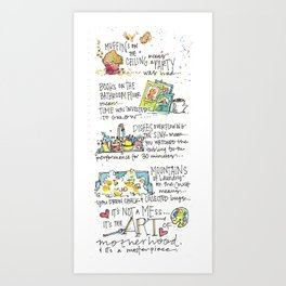 Mom's and Muffins Art Print