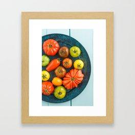 Various heirloom tomatoes Framed Art Print