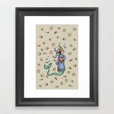Mermaid {Sleepy} Framed Art Print