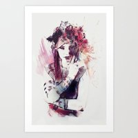 moulin rouge Art Prints featuring Rouge by Galen Valle