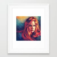 amy pond Framed Art Prints featuring Amy Pond by Alice X. Zhang