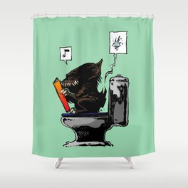 Moment of throne Shower Curtain