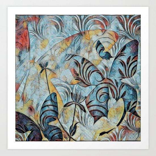 A Butterfly Abstract Art Print