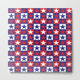 Red White and Blue Stars Metal Print