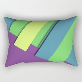 colorful abstract waves material design creative colorful backgrounds colorful waves lines wavy back Rectangular Pillow