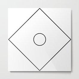 Closed Circle Metal Print