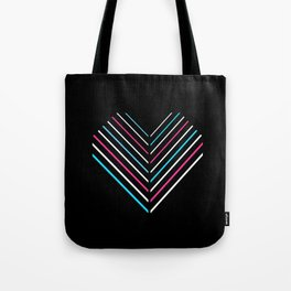 Transcend Neon Heart Tote Bag