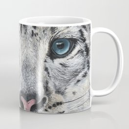 Beast and Beauty - Snow Leopard Oil Painting by Ashley Lane Coffee Mug